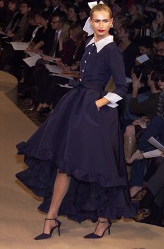 Yves Saint Laurent runway outfit, at Couture Fashion Week, Spring 2001