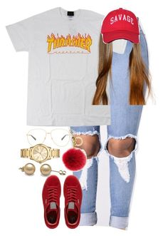"""9.15.16"" by mcmlxxi ❤ liked on Polyvore featuring Puma, Michael Kors and Gucci"