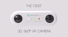 #Realidad_Virtual #360_grados #cámaras TwoEyes VR, una cámara capaz de grabar vídeo 4K en 360 grados
