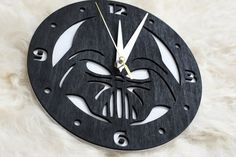 Darth Vader Star Wars wooden wall clock by woodandroot on Etsy