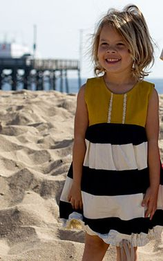 Sunshine Dress sewing pattern for girls