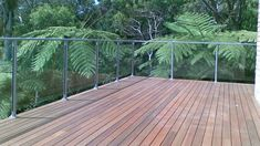 glass balustrades for decking | Wooden with glass balustrade | Exterior | Pinterest