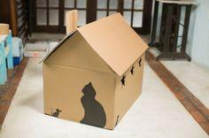 Resultado de imagem para como fazer casinhas para gatos