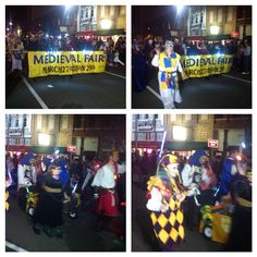 Filming the Medieval Fair Krewe at the  21st Norman Mardi Gras Parade