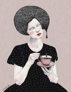 Nina in Black (Girls series) by Sofia Bonati