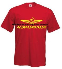 Santas Tools and Toys Workshop: Miscellaneous: Aeroflot Russian Airlines Soviet USSR RETRO Russia Shirt M Medium RED