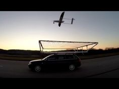 Drone landing on a moving car - YouTube