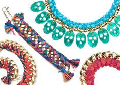 DIY braided chain bracelets, necklaces with embroidery thread diy