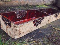 Ceramiczny duży pojemnik, donica, skrzynia