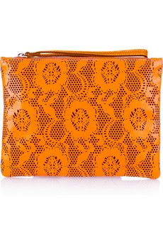 Christopher Kane  Laser-cut leather clutch  http://rstyle.me/bf4p4ub82e