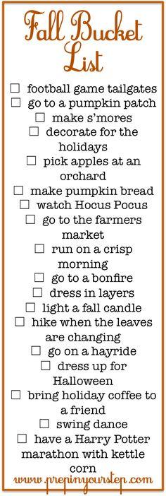 Fall Bucket List + Fun Fall Activities (via Bloglovin.com )