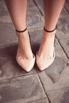 Ankle-strap Flats <3