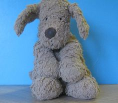 The pup has been claimed by his owner - Hooray! --- Found on 04/01/2015 @ Packwood House (National Trust) Warwckshire B94 6AT. Jellycat dog, much loved, found outside our shop and café on Sunday. He's quite safe with us at Packwood House, but we need to get him home. Visit: https://whiteboomerang.com/lostteddy/msg/00b6f5 (Posted by Jane on 06/01/2015)