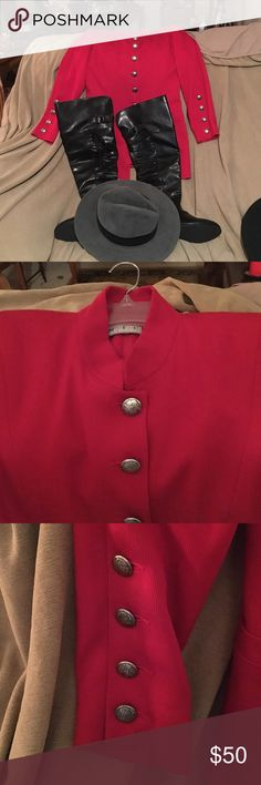 Holiday Show Stopper Beautiful Vintage NIC Red with silver buttons hits below the hips military blazer looks great with everything ❤️ NIC Jackets & Coats Blazers