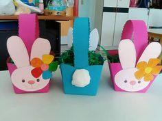 Πασχαλινά καλάθια λαγοί Winter Crafts For Toddlers, Easter Crafts For Kids, Toddler Crafts, Spoon Craft, Preschool Worksheets, Easter Baskets, Christmas Crafts, Diy And Crafts, Projects To Try
