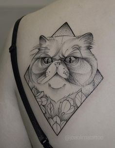 Olha a cara de bravo! Tattoo #pet #cattattoo #dotwork #tattoo2me #tattooistartmag #inkstinctofficial #toptattooartist #abstractart By João Lima