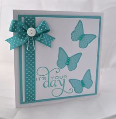 Butterfly card utilising negative space made from PTI materials. By Inkyfingered Carol