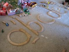 """Looking at letter formation with the train track - from Carrie Isaac ("""",) Train Activities, Phonics Activities, Alphabet Activities, Language Activities, Writing Activities, Preschool Alphabet, Alphabet Crafts, Alphabet Letters, Spanish Alphabet"""
