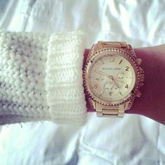 Michael Kors Rose Gold Watch!!!! Never leave the house without this baby <3