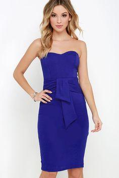 Sash Appeal Royal Blue Strapless Dress at Lulus.com!