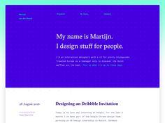 Portfolio Style Exploration designed by Martijn van den Broeck. Connect with them on Dribbble; Portfolio Resume, Web Design, Color Schemes, Names, Explore, Shots, Design Inspiration, Style, Ideas