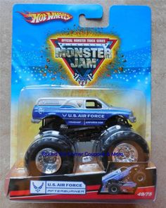 2009 Hot Wheels #49/75 Air Force Afterburner Monster Jam AFAB truck VHTF #HotWheels #diecast
