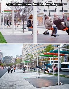 Montreal bus stop.