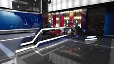 Russia 2 Studio-225 by Tv Concept, via Behance