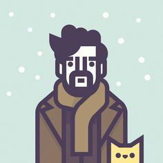 Illustrations of Coen's Movies Characters / Llewyn Davis