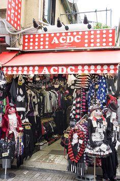 ACDC Rag's cheap and trendy clothing, Takeshita-dori, Harajuku, Tokyo, Japan