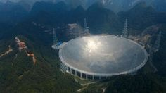 World's Largest Radio Telescope Now Open – and it is a Monster! Newly opened, the world's largest radio telescope heralds the next phase of space exploration: the Aperture Spherical Radio Telescope (FAST). Origin Of Universe, Other Galaxies, Secrets Of The Universe, Space Time, Cool Technology, Astrophysics, Space Exploration, Science Art, Places