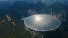 The world's largest single-dish radio telescope went into operation on Sunday.