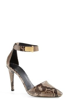 Proenza Schouler Genuine Python Ankle Strap Pointy Toe Pump (Women) | Nordstrom