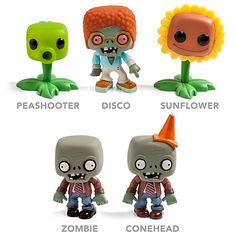 These Plants vs. Zombies Fun-Dead Figures are as fun to collect as they are to look at. Fans of the hit video games will want to collect them all. These figures Zombie Birthday Parties, Zombie Party, 7th Birthday, Plants Vs Zombies, Toy Art, Plantas Versus Zombies, P Vs Z, Festa Angry Birds, Geek Decor