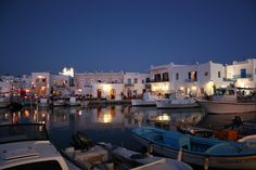 Paros, Greece. There is a great B just next to the Frankish castle ruins. Perfect view over the harbor!