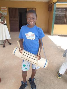 Saidu with his drum