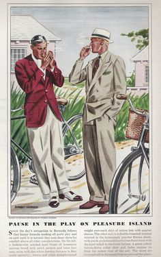 Esquire fashion illustrations - April 1938