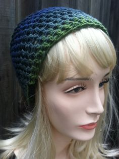 Slouch Beanie High End Yarn  Ombre by ScarletsCorner on Etsy, $25.00
