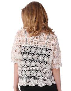Кружевной топ. Имитация вязания крючком. Идеи для вязания. #Machine_made_crochet    #lace_top   #ideas_for_crochet