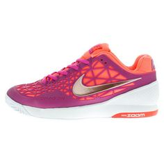 Fun new colors from Nike, the Women's Zoom Cage 2 Tennis Shoe offers  elite players a lightweight supportive shoe! Get yours >> http://www.tennisexpress.com/nike-womens-zoom-cage-2-tennis-shoes-fuchsia-flash-and-white-44172 #TennisExpress