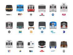 Subway Train Icons by peter dovak (Washington, DC)