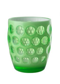 Lente Fluo Green Tumbler by Mario Luca Giusti Acrylic Tumblers, Futuristic Design, Kitchen Cupboards, Good Grips, Optical Illusions, Clear Acrylic, Green Colors, Tableware, Glass