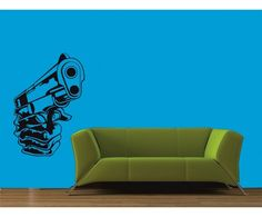 Gun wall sticker by meSleep, available on http://www.makenlive.com/products/9466/walls-and-paints/wall-stickers/Gun  #art #retro #mafia #noir #decor #home #interior #design #idea