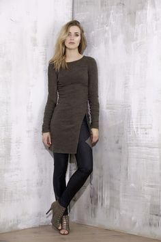 Khaki sweater from lace-me-up collection - malubi.co Fashion for elegant woman who loves premium label.