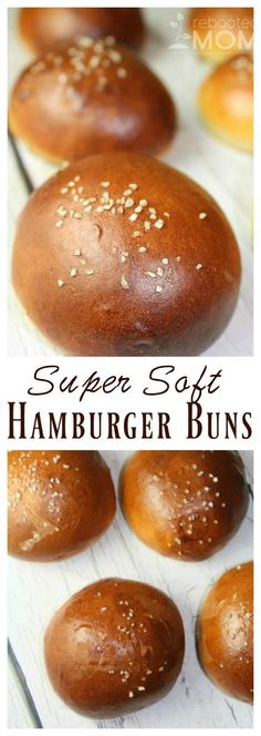 Recipes Easy Hamburger Burger Buns New Ideas Hamburger Bun Recipe, Hamburger Buns, Baguette, Low Carb Recipes, Cooking Recipes, Bread Recipes, Drink Recipes, Yummy Recipes, Burger Bread