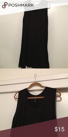 Black Cotton Swing Dress Light. Hits below knee. Lightly worn. bp Dresses Midi