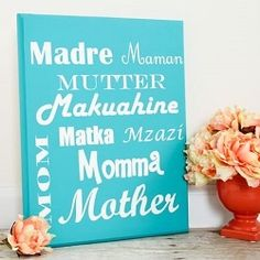 A beautiful and easy handmade project to celebrate Mom!