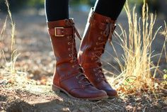 Timberland Brown Leather Lace Up Buckle Boots
