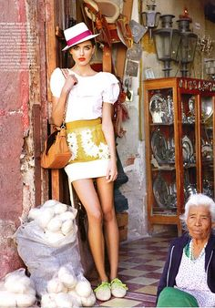 I like these colors together. Vogue Australia March 2011 - shot in Mexico.