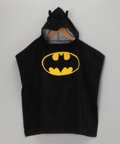 What a great birthday gift - Batman hooded towel